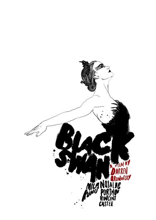 Black Swan Film Poster by peterstrainshop on Etsy
