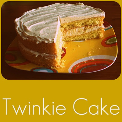 twinkie cakeTwinkie Cake Recipe, Undressed Skeletons, Sweets Treats, Twinkie Cupcakes, Cake Boards, Twinkie Costumes, Delish Desserts, Yummy Treats, Cake Recipes