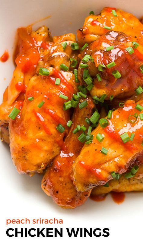 Addictively spicy and sweet baked chicken wings. Prepped in 15 minutes and ready in an hour, these are the perfect app for your next party!