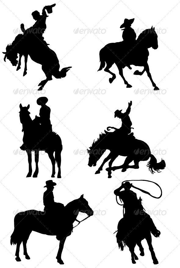Cowboy Riding Horse Silhouettes | Animals, Graphic design ...