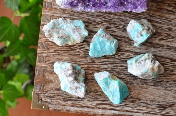 Amazonite Raw Crystal Throat Chakra In 2020 Crystal Healing