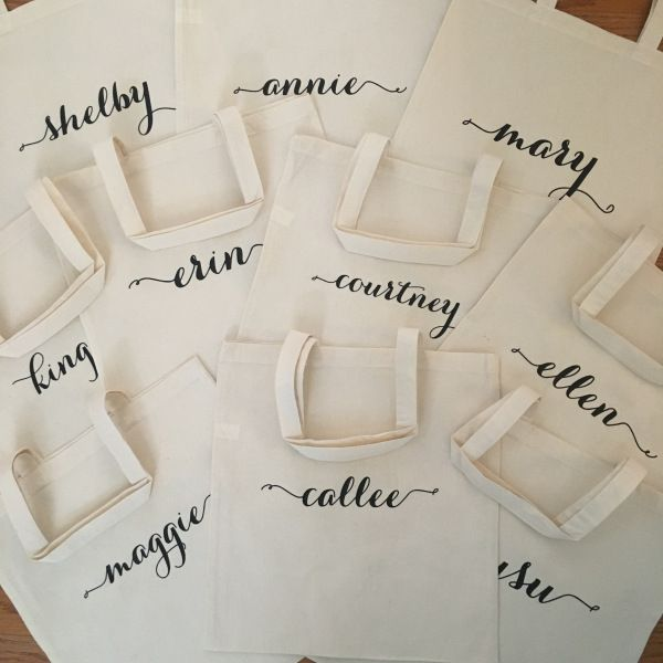 DIY personalized totes for a bachelorette weekend using your Cricut!