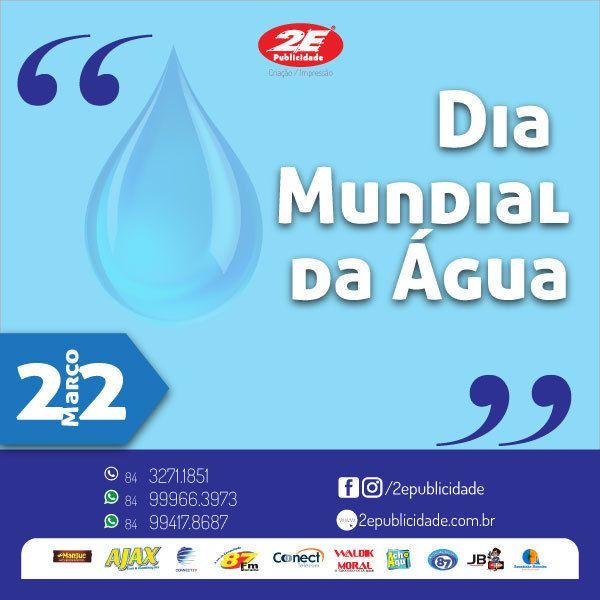 O Dia Mundial da Água é comemorado anualmente em 22 de março.  Esta data foi criada com o objetivo de alertar a população internacional sobre a importância da preservação da água para a sobrevivência de todos os ecossistemas do planeta.