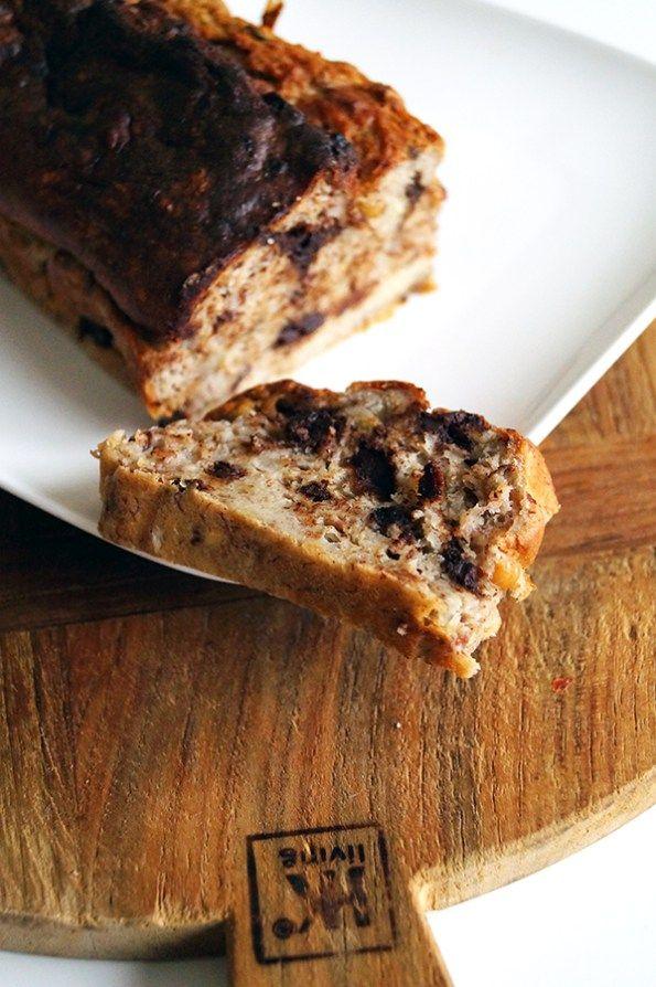 glutenvrij en suikervrij chocolade bananenbrood