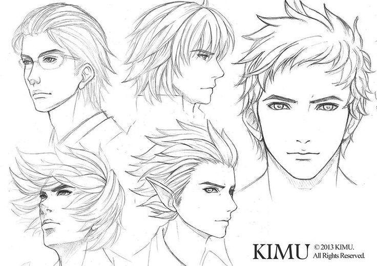 Male Face Practice By Kimuliao On Deviantart Manga