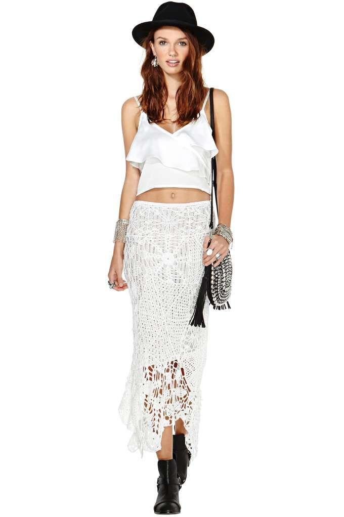 Brocade pattern  Indah Maxi Mermaid Skirt