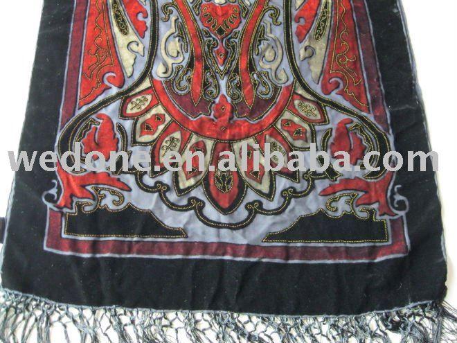 Шелковый кислота печатных lustrine пейсли шарф