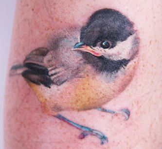 Cool 3D Flying Hummingbird Tattoo Design | Tattoomagz.com › Tattoo ... (A little Chickadee!)