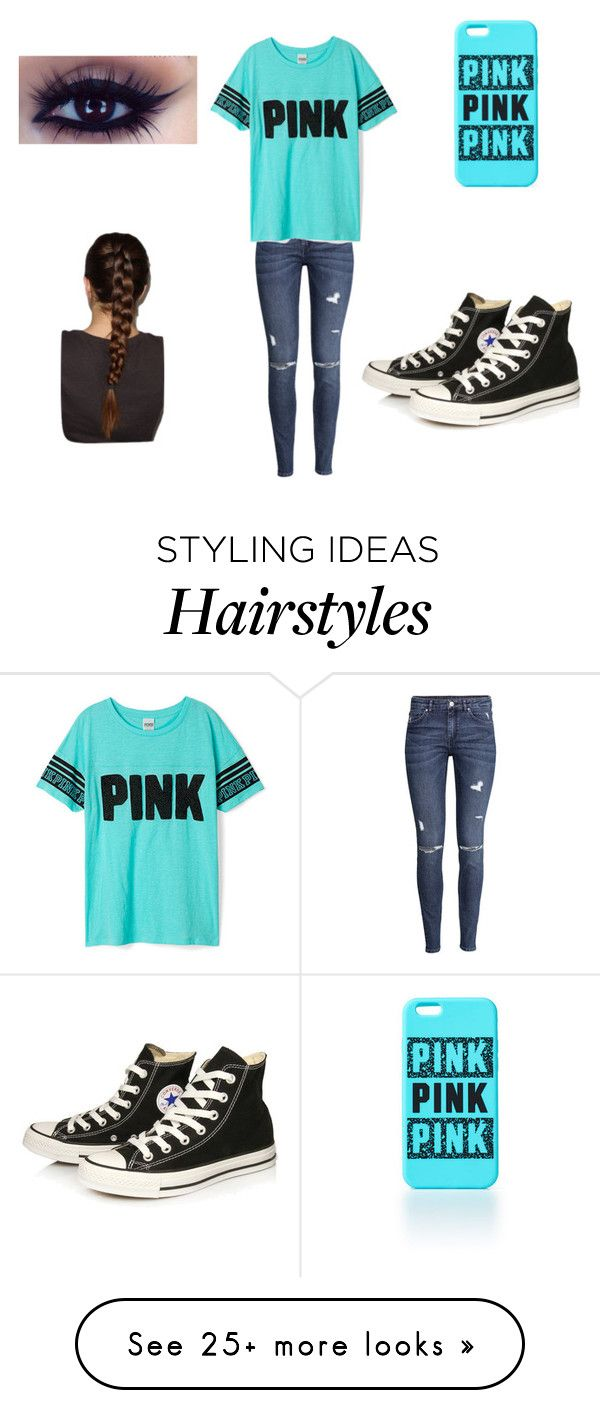 """PINK#2"" by powerkids on Polyvore featuring H&M and Converse"