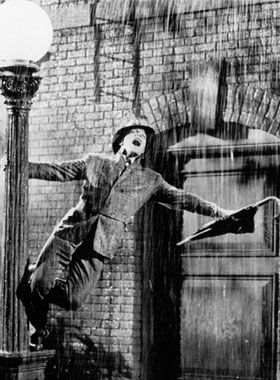 old movie classics - Gene Kelley- Singing in the rain which was actually milk. Because they couldn't see the water on camera but they could see milk.