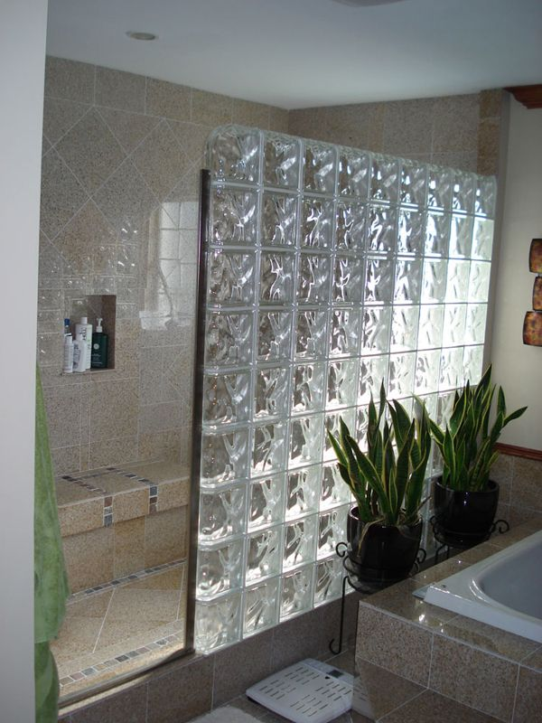 I Love The Glass Block Divider And No Shower Door For