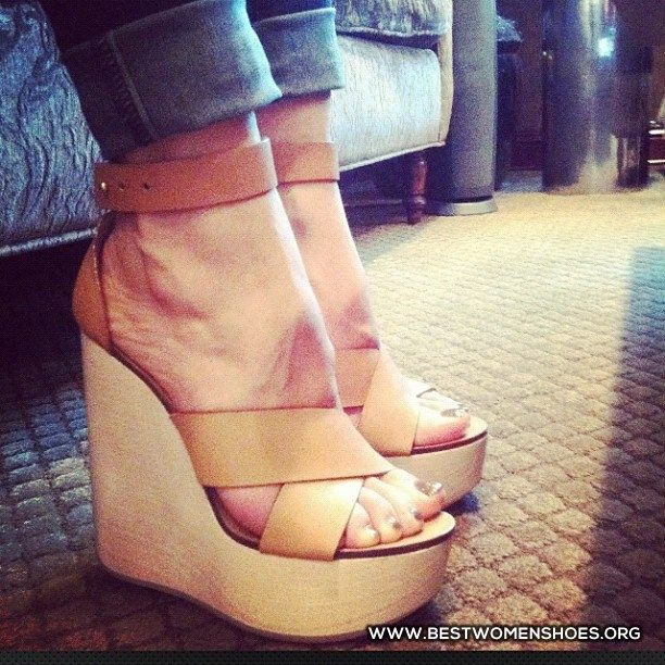 cream sandal wedges - Woman Shoes - Best Collection
