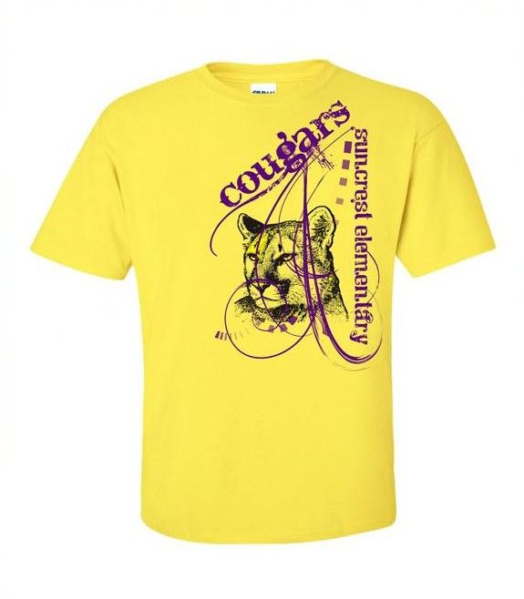 cougar spiritwear t shirt design school spiritwear shirts and apparel