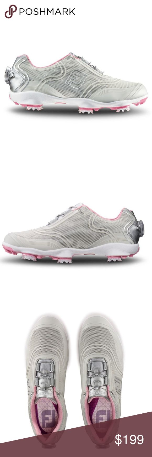 ❗️1 LEFT Footjoy Performance Golf Shoe MSRP $210 ❗️1 LEFT Footjoy Performance Women's Golf Shoes. #1 shoe in golf! Brand new never worn in original box size 8. Light pink, silver & grey. Feel free to make an offer! I'm giving to the first reasonable offer I receive & give great bundle deals! Moving Clearout Sale--all must go! ;-) Footjoy Shoes Athletic Shoes