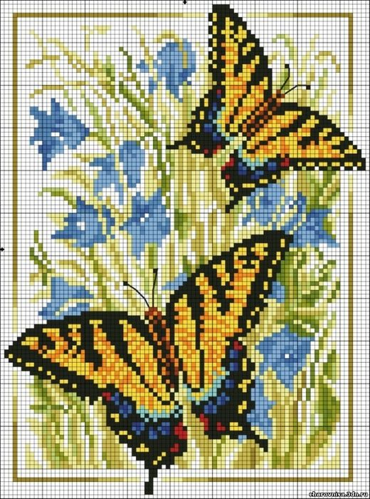 several free cross stitch patterns for butterflies #freecrossstitch