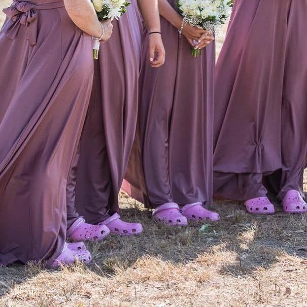 Bridesmaid Crocs Yay Or Nay Pinkboutique Pinkboutiqueuk