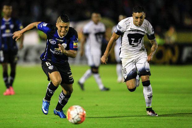 El Independiente del Valle de Pablo Repetto venció a Pumas de la UNAM 2-1 de local por la ida de los cuartos de final de la Copa Libertadores.