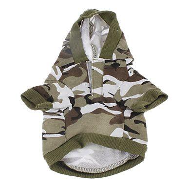 Хлопок Camouflage Pattern толстовки для собак (разных цветов, XXS-M),