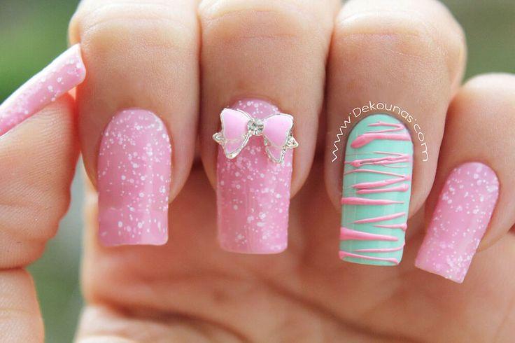 Más de 30 diseños de uñas para Quinceañeras!   Decoración de Uñas - Nail Art - Uñas decoradas