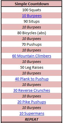 bodyweight workout! @PTaylorMadeFitness - let's do this Monday!