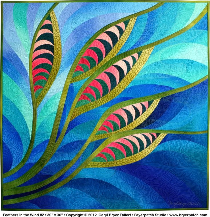 Feathers in the Wind #2 © 2012 Art Quilt by Caryl Bryer Fallert, Paducah KY