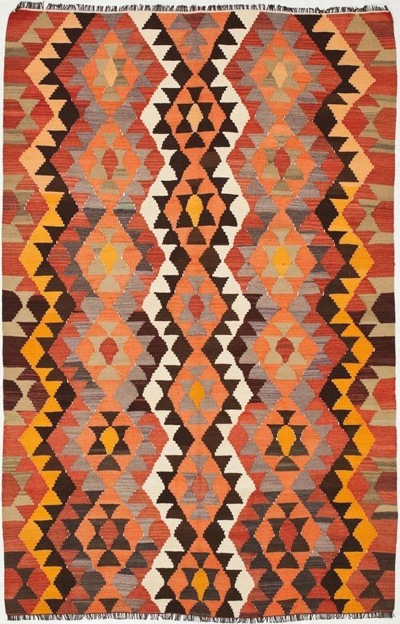 """Anatolian Kilim 5'6""""x8'6"""": Kilim Rugs, Dhurry Rugs, Tribal Rugs, Flatweave Rugs - ABC Carpet & Home"""
