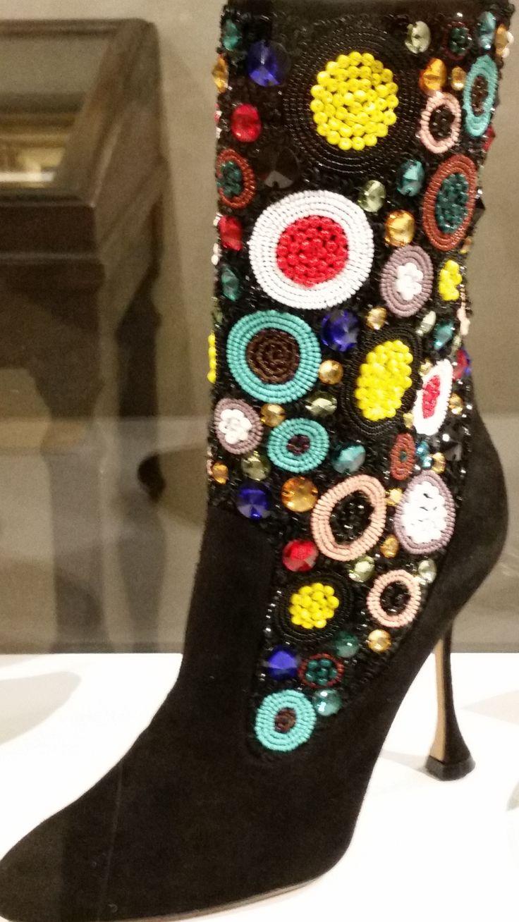 Manolo Blahanik Celesta boots as seen at Palazzo Morando exhibit: Manolo Blahnik The art of shoes.