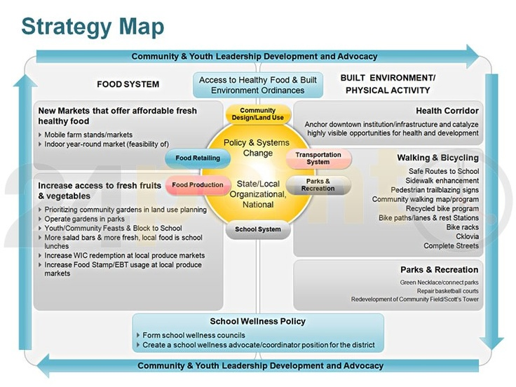 Strategy map: Community and Youth Leadership Development and Advocacy