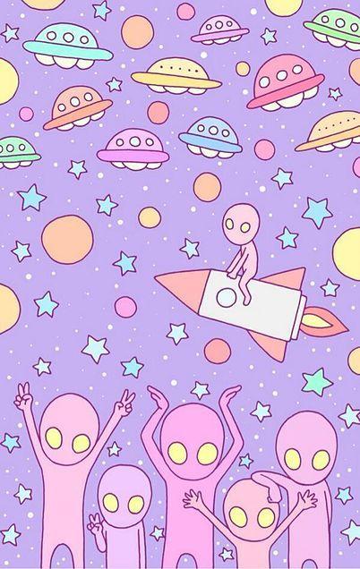 徳田有希 壁紙イラスト「宇宙人」の画像 プリ画像
