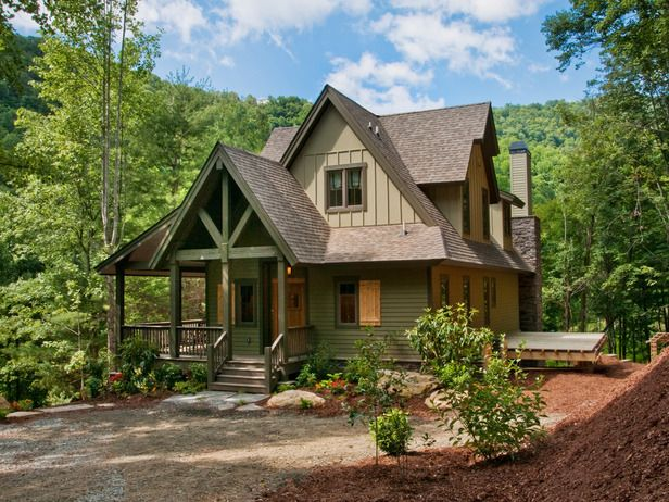 Best 25 cabin exterior colors ideas on pinterest cottage exterior colors cottage exterior - Mountain cabin plans close to nature ...