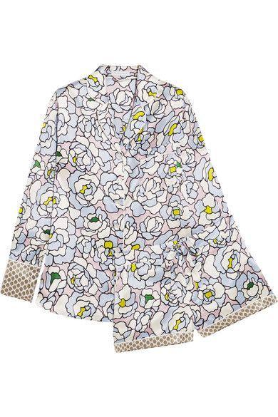 Olivia von Halle   Alba Dione floral-print silk-satin pajama set   NET-A-PORTER.COM