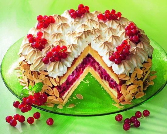 Johannisbeer-Torte mit Baiserhaube Rezept   Dr. Oetker