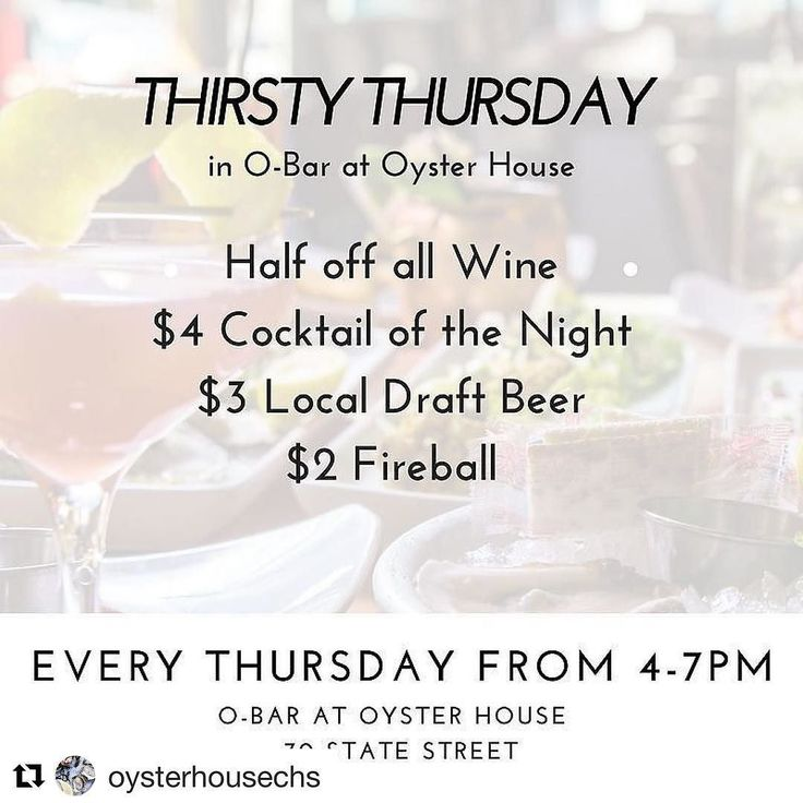 It that today??!!! Woohoo!  #Repost @oysterhousechs (@get_repost)  Happy Thirsty Thursday! It's a gorgeous day to join us in O-Bar!