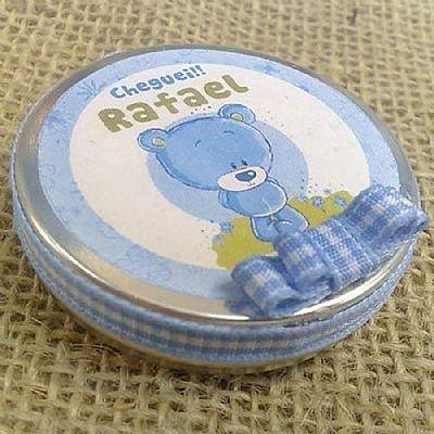 Lembrancinha Maternidade e Chá de Bebê Latinha com Confetes, diversos rótulos e cores, confira! $3.20