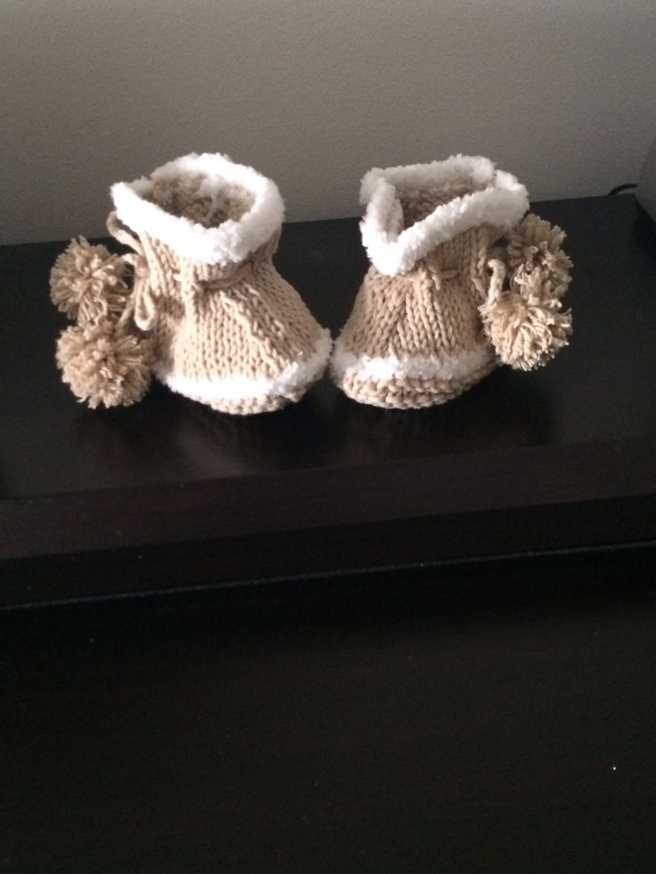 Baby Snugs, slippers I knitted.