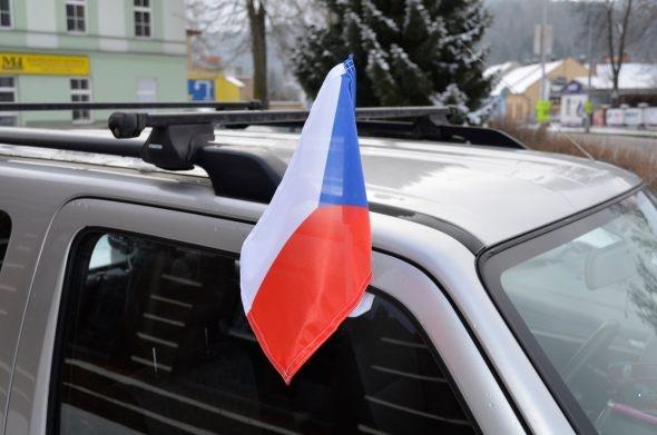 Auto vlaječka ČR - Carflag CR