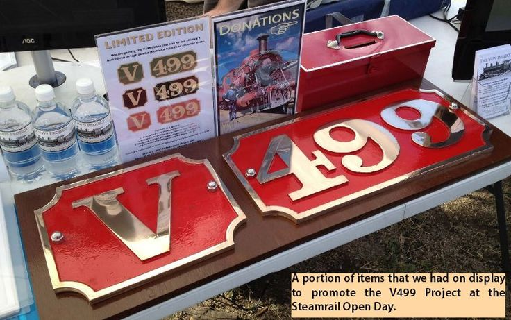 V499 Project. Limited Edition Name Plates. Steamrail Open Day Weekend March 2016