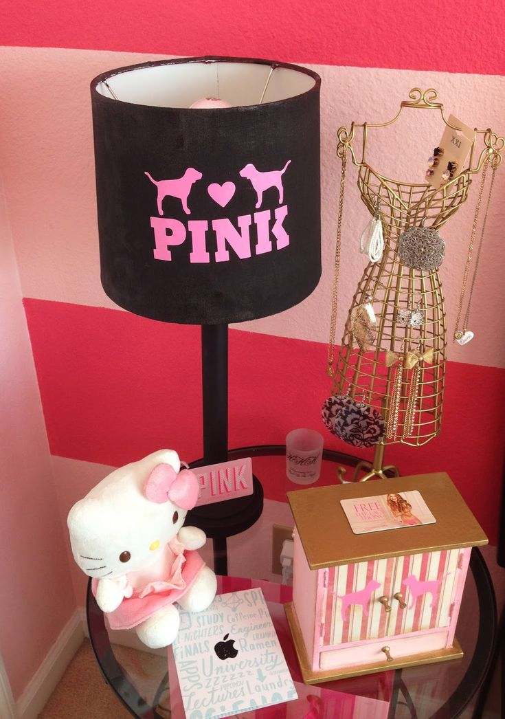 Victoria Secret Pink Room | Pink Dog Vinyl Stickers And Cut Outs That We  Used