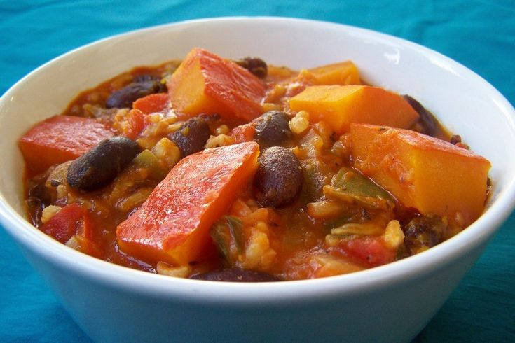 Jambalaya met pompoen - Vegetus; veganistisch budgetvriendelijk snel klaar