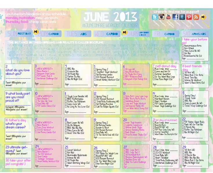 My current work out challenge so motivated must follow this woman who creates these awesome monthly challenges. Www.blogilates.com