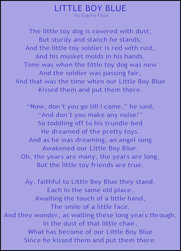 little boy blue by eugene field wynken blynken