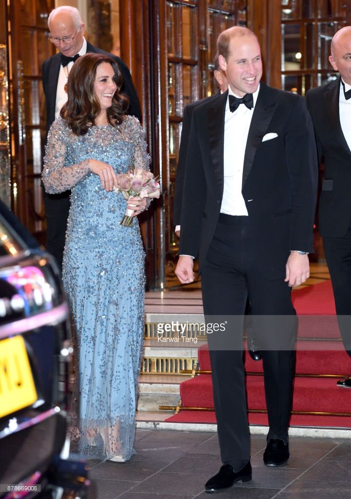Catherine, Duchess of Cambridge and Prince William, Duke of Cambridge attend the Royal Variety Performance at the Palladium Theatre on November 24, 2017 in London, England.