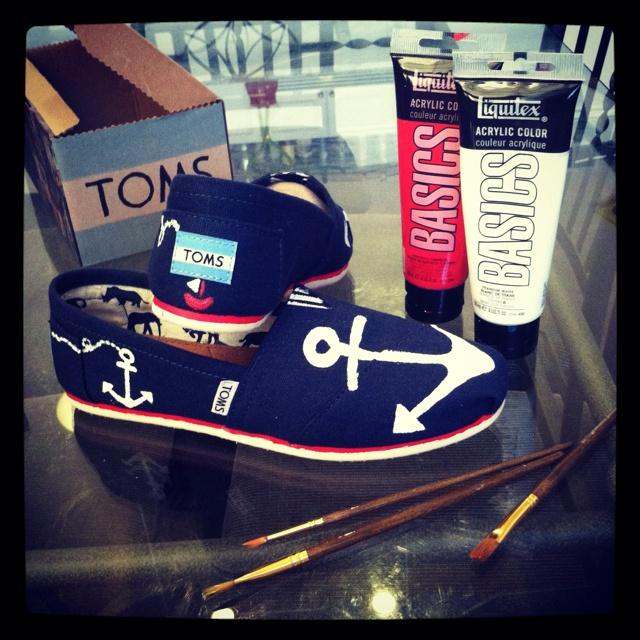 my DIY nautical toms