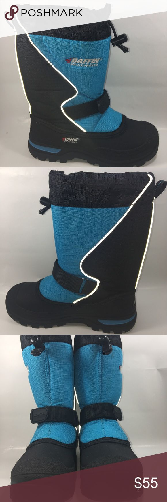 Baffin Blue & Black Mustang Juniors Snow Boots Excellent Condition Some Normal Wear See Pictures. Baffin Blue & Black Mustang Juniors Snow Boots Size 3 Shoe #S158 Baffin Shoes Rain & Snow Boots
