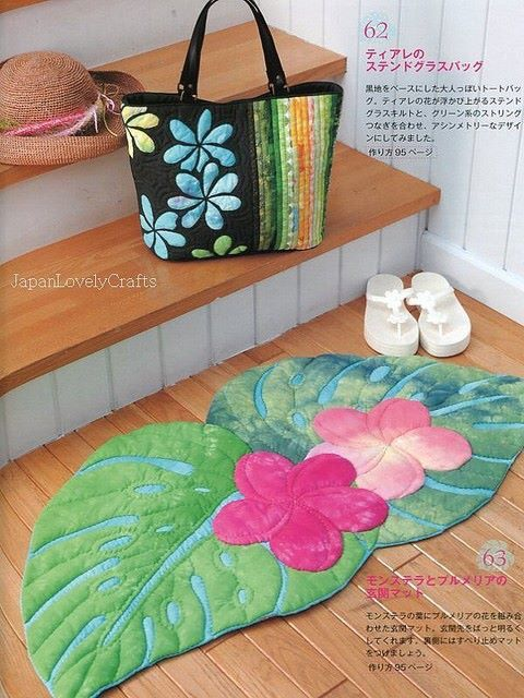91 best images about hawaiian quilt blocks on pinterest for Alfombras patchwork persas
