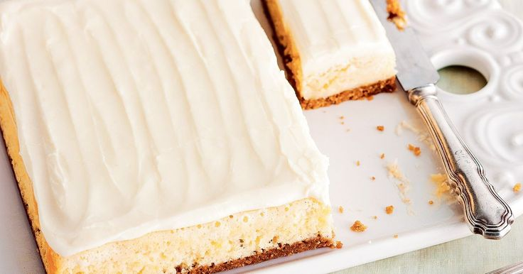Lemon sponge slice