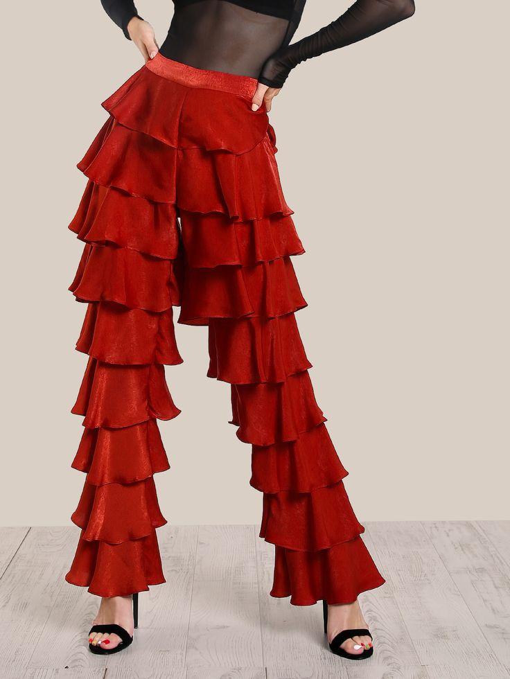 Shop Layered Ruffle Pants RUST online. SheIn offers Layered Ruffle Pants RUST & more to fit your fashionable needs.