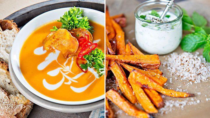 Lises søtpotetfavoritter: Bakt søtpotet, fries, suppe og krydderkake
