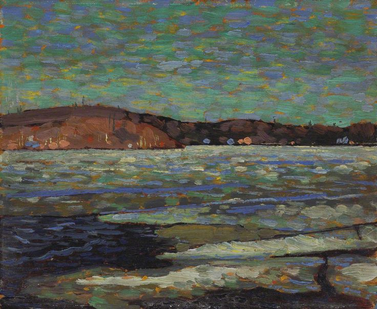 Tom Thomson Ice Reflections, Spring, 1916 Oil on Wood 21.4 x 26.7 cm