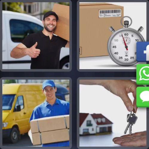 4 Fotos 1 Palabra Cajas de Carton Reloj Cronometro Llaves de Casa Manos Hombres con Cajas Camionetas - Enigma Diario Corea Del Sur 7 Letras - 15 de Febrero